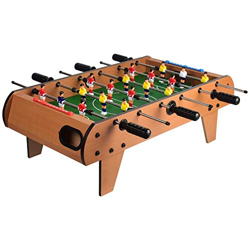 Best Review Of QERNTPEY-Home Foosball Tabletop Games Table Top Foosball Table for Adults and Kids Ta...