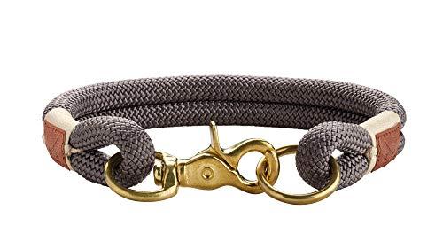 HUNTER Sansibar Rantum Halsung, Hundehalsband, Tau, modern, nautisch, 50 (M-L), grau