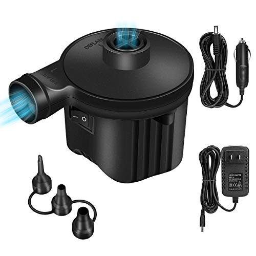 Electric Air Pump, 300W High Power Air Pump Inflator & Deflator Valve with 3 Nozzles, 1.2PSI...