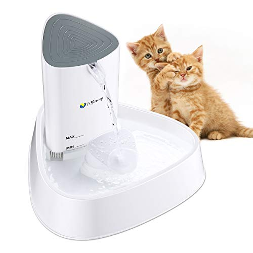isYoung Cat Fountain LED Pet Water Fountain Ultra Quiet Automatic Pet Water Dispenser