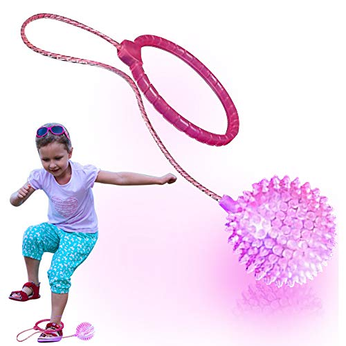 ArtCreativity Light Up Ankle Skip Ball with Bright LEDs - Skipper Jumping Game for Kids and Adults - Skip It and Watch It Dazzle - Indoor and Outdoor Fun or Birthday Party Favor