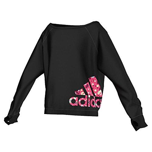 adidas Dance - Sudadera deportiva infantil negro Talla:8 años (128 cm)
