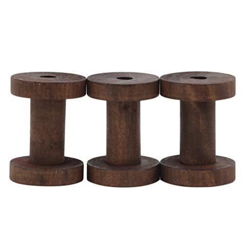 ZYYXB 3 Stück Leere Holzspulen Gewindespulen DIY Kabel Drahtseilspulen Rollen Nähzubehör zum Nähen von Bastelarbeiten