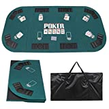 JungleA Folding Poker Table Top 71 x 35 Inches Portable...