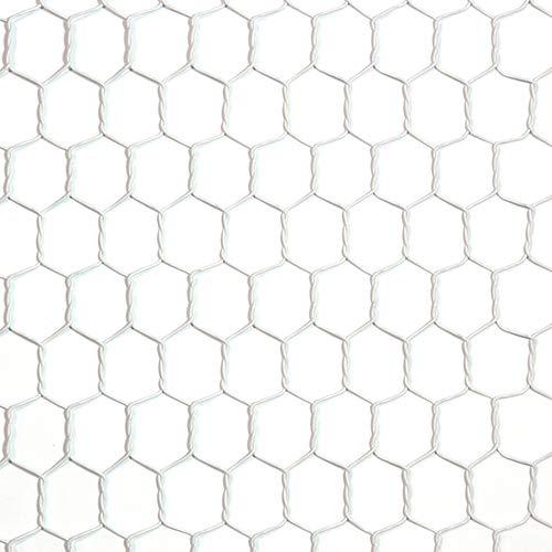工作用ネット 亀甲金網 ホワイト 10160144 線径0.85mm 450幅x1m
