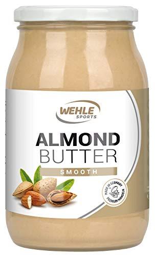 Mandelbutter – Premium Mandelmus – Almond Butter natürliches Nussmus veganer/ vegetarischer Brotaufstrich für Smoothies, Backen, Snack (Smooth, 900g Glas)