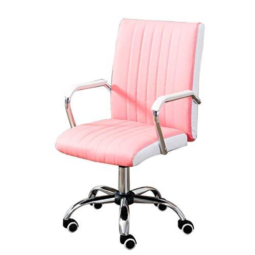 Scra AC Chair Computer Home Office Chair Moderno Minimalista Sedia Sedia del Personale Mahjong Seggiovia Chair Bow (Colore: Rosa) (Color : Pink)