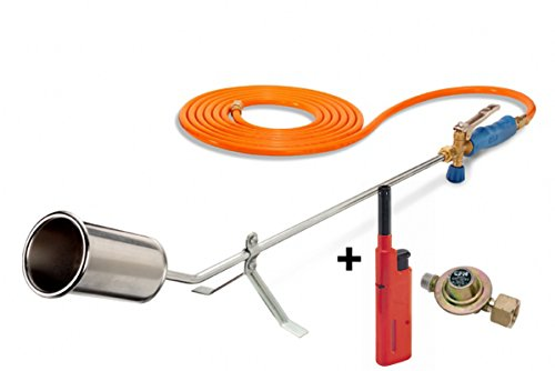 CFH Abflammgerät GV 900 inkl. Druckregler 2,5 Bar + Piezoanzünder-Feuerzeug
