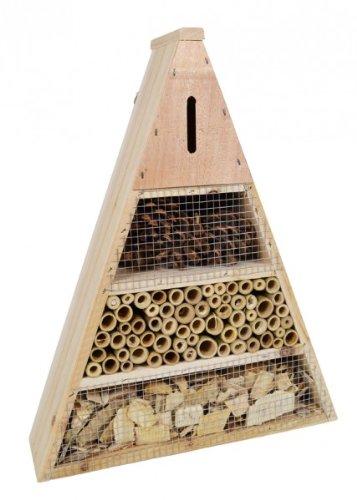 Grüner Jan Insektenhotel aus Holz Bambus und Zapfen