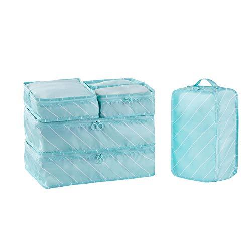 Generic Sac de Rangement de Voyage Set de Bagages Finition Emballage Sac de sous-Vetements-Bleu