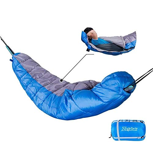 Hangmat slaapzak, temperatuur standaard 0~25°C (220x85cm), outdoor camping dikke warme, multifunctionele hangmat slaapzak