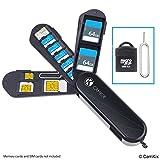 Aufbewahrungsgehäuse für Speicherkarten und SIM-Karten - Micro SD Kartenleser (USB) und Stift zum...