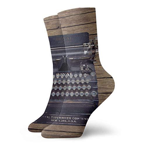 Vintage Schreibmaschine Write New York Socks Männer Frauen Sports Athletic Socks Casual Comfy Socks 30 cm / 11.8 Zoll