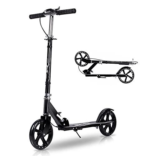 キックボード キックスクーター 子供 大人用 折り畳み式 軽量 3段階調節 立ち乗り式二輪車 持ち運び便利 フット/ハンドブレーキ アルミニウム製