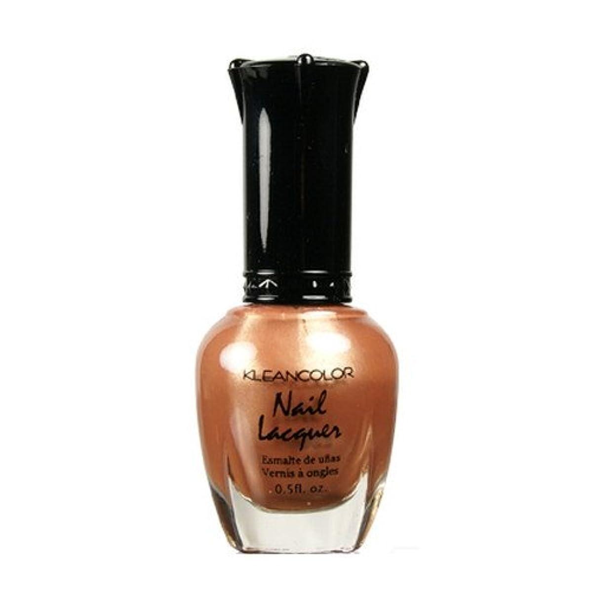 盲信ワンダー受信機(3 Pack) KLEANCOLOR Nail Lacquer 1 - Chocolate Brown (並行輸入品)