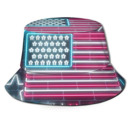 zhouyongz Summer and Winter Outdoor Hunting and Fishing Picnic Sun Cap, Neutral Barrel Cover,Led American Flag
