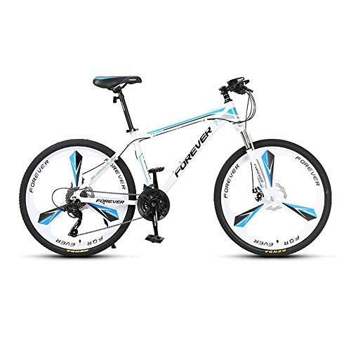 Bicicleta, Bicicleta de montaña con ruedas gruesas de 26 pulgadas, Bicicleta con freno de disco doble, Bicicleta de montaña de 27 velocidades, Para adultos y adolescentes, Se adapta a varios terr