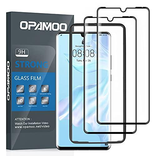 opamoo [2 Pack] Cobertura Completa Protector de Pantalla para Huawei P30 Pro, Cristal Templado con Marco de Alineación Sin Burbujas 9H Alta Sensibilidad HD Vidrio Templado Huawei P30 Pro Templado