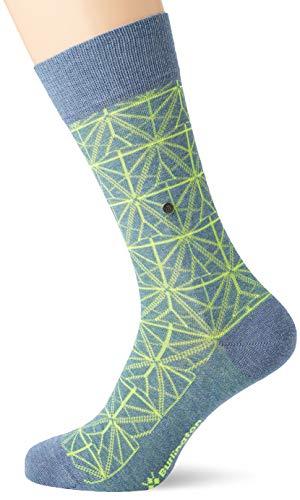 BURLINGTON Herren Socken Eerie Glow, Baumwollmischung, 1 Paar, Blau (Light Jeans 6662), Größe: 40-46