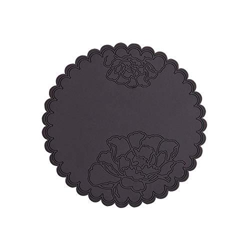 Portavasos 1 unids Fower de silicona Mesa de comedor Decortividad Aislamiento de calor Resistente Almohadilla Pad Holder Holder Coster Placemat Herramientas de cocina (Color : 1)