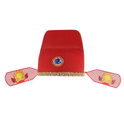 Sharplace Chinesische Meister Hut, Filzhut, Kostümhut für Cosplay, Karneval, Fotografie, Bühnenkostüm - Kind