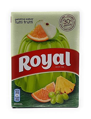 Royal, Gelatina in Polvere, Gusto Tutti Frutti, 30% Zuccheri in Meno, 114 gr