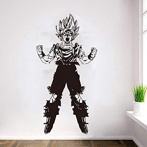 Cartoon Anime Dragon Ball Z Super Saiyan Sun Wukong Roar Fight Goku Transform Wall Sticker Vinyl Art Decal Youth Bedroom Living Room Home Decoration Mural