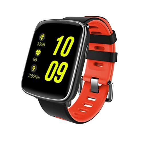 GV68 Wasserdichte Sport Smart Watch Telefon Kamerad Touchscreen Blautooth Herzfrequenz Schlaf Monitor Sitzende für iOS Android Telefon (Rot)