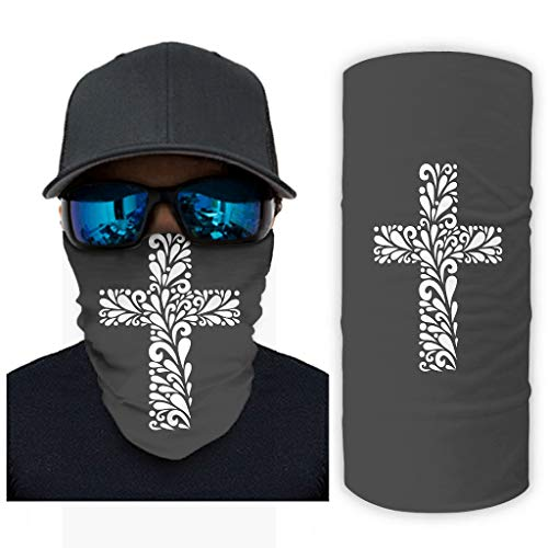 Cross Jesus - Pañuelo multifuncional resistente al viento reutilizable para cubrir la cara para deportes Ourdoor vida diaria para adultos y niños