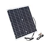 Panel Solar Flexible 20 W 18 V Paneles Módulo de células solares DC para coche Yate Light RV 12 V batería barco 5 V cargador al aire libre