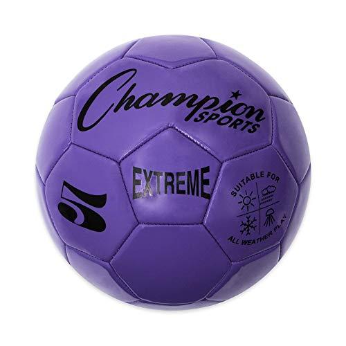 Pallone da calcio serie Extreme, misura 5, per collegiali, professionisti, e campionati standard, per tutte le stagioni, morbido al tatto, massima ritenzione d'aria, per adulti, adolescenti, viola