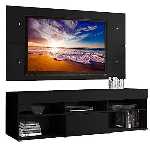Rack com Painel para Tv até 65 Polegadas Madesa Miami 1 Porta - Preto