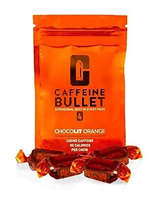 Caffeine Bullet Chocolate Orange Chews ? Energy Drink, Caffeine Pill & Gel Upgrade. 100mg Caffeine for a Pre Workout Football, Gaming, Gym and Endurance Sports Energy Boost
