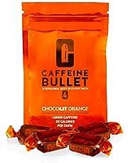 Cafeïne Bullet Energy Chews - chocoladesinaasappel * 4 - Snellere kick dan pillen, gels en kauwgom. 100 mg cafeïne - sportwetenschap voor hardlopen, fietsen, gamen en een uithoudingsvermogenverhoging vóór de training.