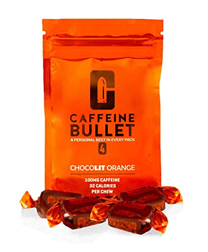 Caffeine Bullet Energy Chews - Chocolate Orange *16 – Faster Boost Than Gels, Tablets and Gum. 100mg Caffeine - Sport Science for Running, Cycling, Gaming & Pre Workout Endurance Kick.