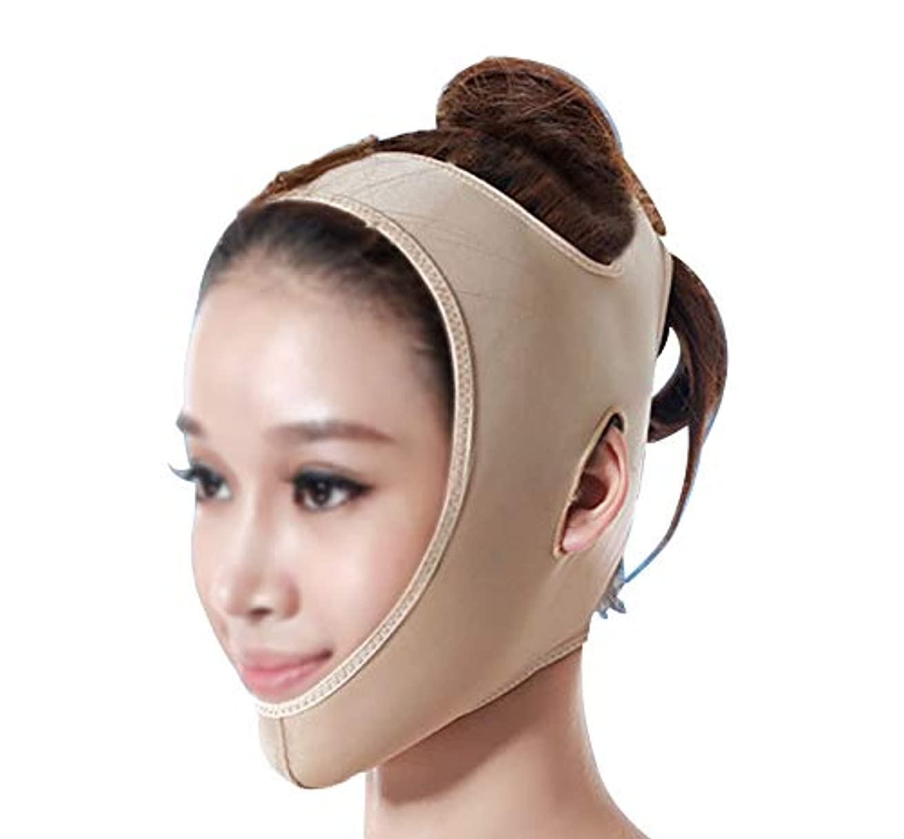 重要な役割を果たす、中心的な手段となる普及スリンクGLJJQMY 引き締めマスクマスク美容薬マスク美容V顔包帯ライン彫刻引き締めしっかりダブルチンマスク 顔用整形マスク (Size : M)