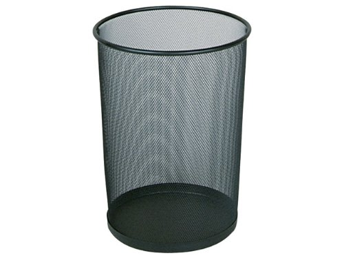 Preisvergleich Produktbild Papierkorb Draht rund 19 L schwarz 29x35, 6cm Stahl VE=1