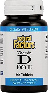 Natural Factors Vitamin D3 1000iu, 90 Tablets