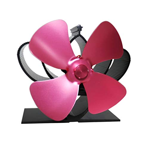 Hothap verwarm de kachel met eigen voeding, stille aluminium kachel met 4 vleugels, efficiënte verwarming voor grote ruimtes, milieuvriendelijk roze (pink)
