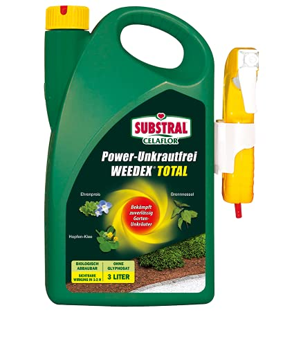 Substral Celaflor Power Unkrautfrei Weedex Total, Unkrautvernichter, bekämpft Unkräuter, Gräser und Moos, 3 Liter Sprühkanister