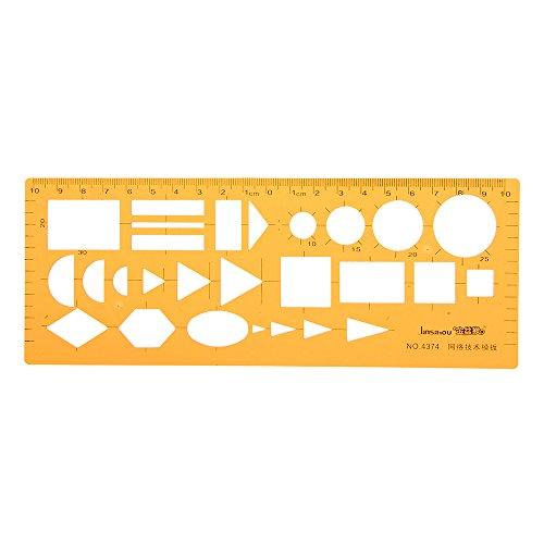 VIDOO Netzwerktechnik Technische Zeichnung Vorlage Kt Weiche Kunststoff Lineal Entwurf Design Schablone