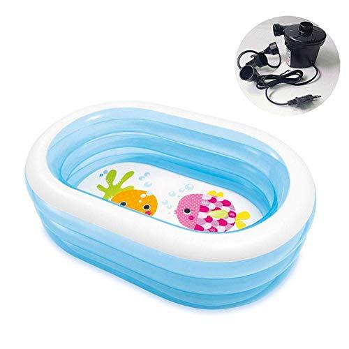 Nologo Xjdmg Wear Oval hogar Resistentes y duraderos Piscina for niños, Espesar Eco Friendly Family Piscina Inflable, Apto for bebés y niños HRTT