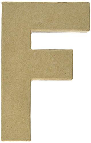 Darice Paper Mache Letter 8' X5-1/2-Letter F