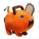 Elyincii Chainsaw Man Pochita Anime Stuffed Dolls Toys Denji Cosplay Plushie Plush Toys for Kids (Orange, 9.8in)