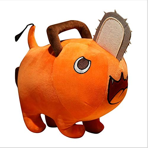 Chainsaw Man Pochita Anime Stuffed Dolls Toys Denji Cosplay Plushie Plush Toys for Kids (Orange, 9.8in)