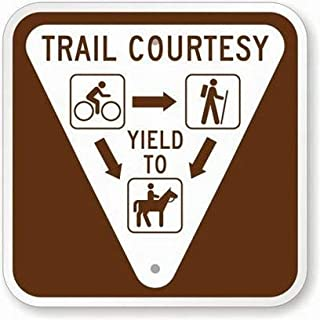 Best trail courtesy sign Reviews