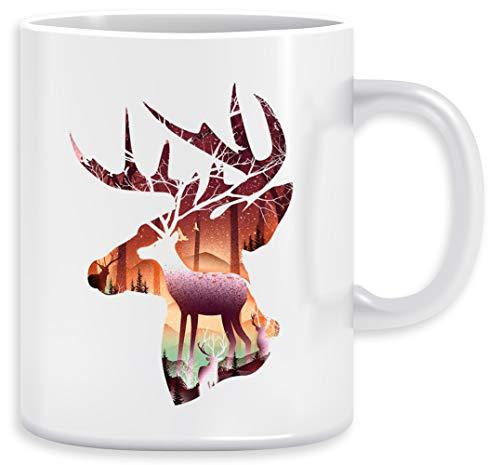 Mystisch Hirsch Kaffeebecher Becher Tassen Ceramic Mug Cup