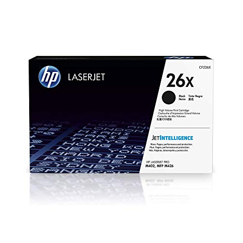 HP 26X (CF226X) Schwarz Original Toner mit hoher Reichweite für HP Laserjet Pro M402, HP Laserjet Pro M426