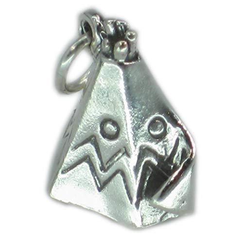 Wigwam Tipi Eingeboren Indisch Sterling Silber Charm .925 X1 Indianer Anhänger sssc032