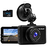Real 1080P Dash Cam OldShark Full HD Dashboard Camera for Cars with 32GB Card 170°Wide Angle 3 Inch Driving Cameras Dash Recorder Loop Recording G-Sensor Motion Detection1080